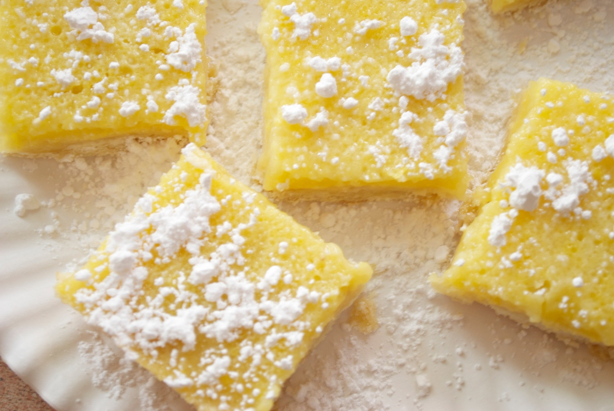 Perfect Lemon Custard Bars
